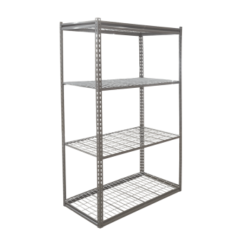 100A Low Profile Boltless Shelving w/ Wire Decking