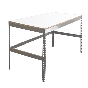 Single Level Boltless Workbench with Laminated Decking