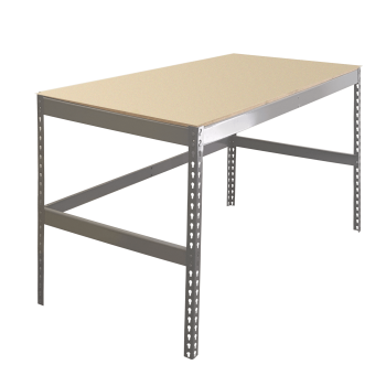 Single Level Boltless Workbench with Particle Board Decking