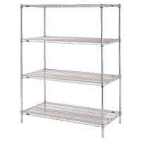 Stationary Chrome Wire Shelving Units