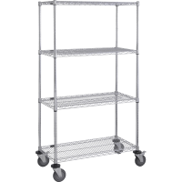 Mobile Chrome Wire Shelving Units