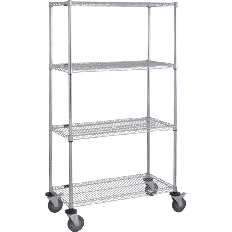 Mobile Chrome NSF Wire Shelving