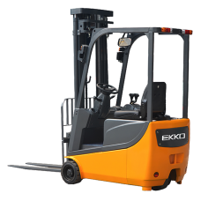 "*Special* EKKO EK13A 3 Wheel Electric Forklift, 3300lbs. Cap., 138"" Lift Ht. Side Shift"