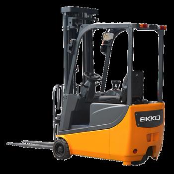 "*Special* EKKO EK13A 3 Wheel Electric Forklift, 3300lbs. Cap., 138"" Lift Ht. Side Shift"