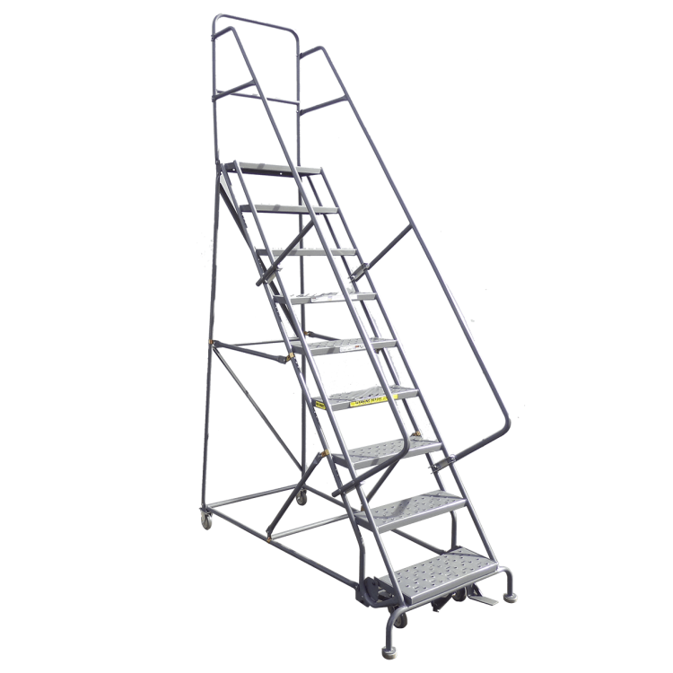Rolling Warehouse Ladders With High Weight Capacity And