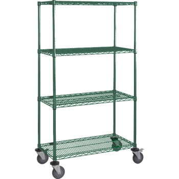 Mobile Green NSF Wire Shelving